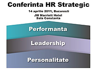 Editia a 2-a Conferinta HR Strategic: Performanta. Leadership. Personalitate - HART Consulting