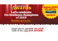 HART Consulting is partner of the Business Gala Awards 2014 - HART Consulting