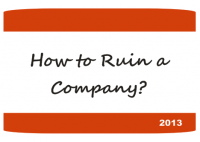 How to Ruin a Company? - HART Consulting
