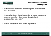 Madalina Balan - Leadership-ul si trasaturile de personalitate accentuate: cand punctele forte devin o frana - HART Consulting
