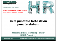 Madalina Balan -  Personality of leaders: When strengths become weaknesses - HART Consulting