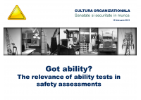 Marco Vetter - Got ability? The relevance of ability tests in Safety Assessments - HART Consulting