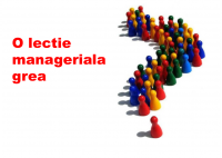 O lectie manageriala grea - HART Consulting